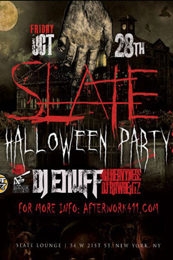 Haunted NYC Halloween Party New York Slate NYC Lounge Flatiron