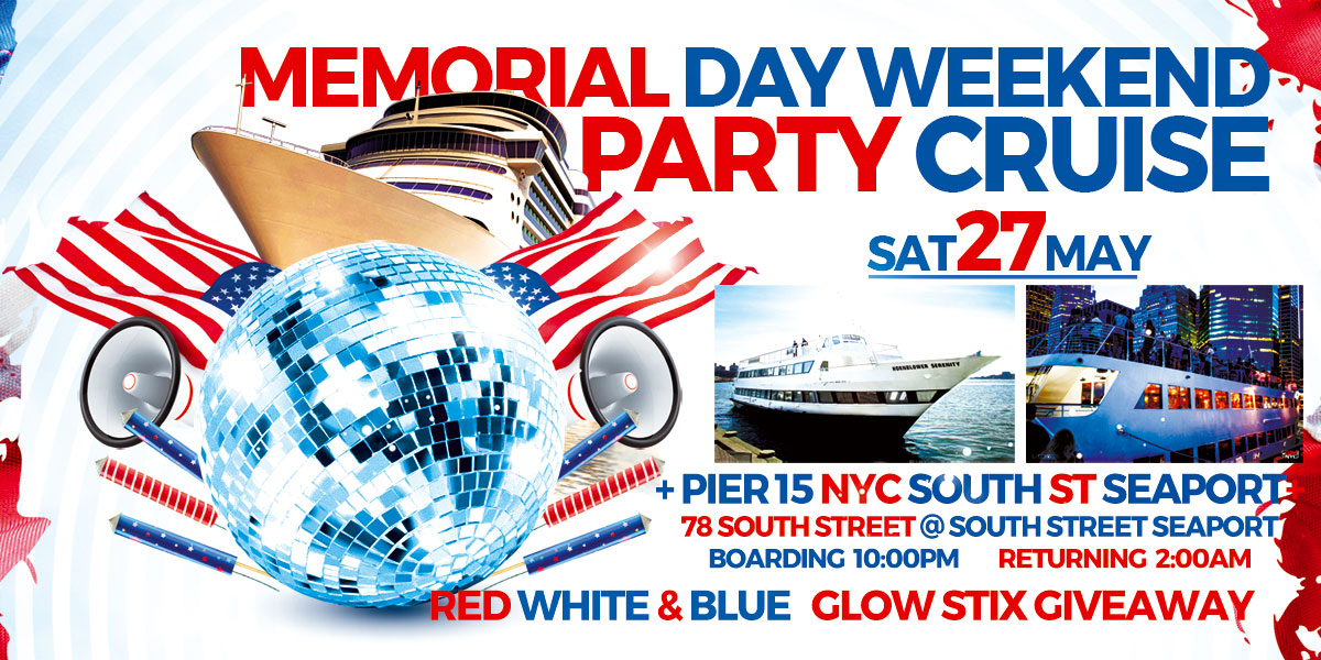 Cruise On The Hudson - Summer Yacht Party NYC Hornblower Serenity Yacht Dance Cruise On The Water boarding from Pier 15 NYC