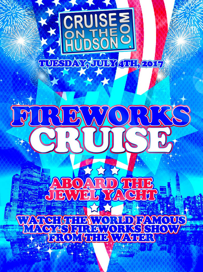 Firework cruise nyc july 4th weekend aboard the jewel yacht
